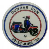 Scooter - 'Dunbar Run 22-23 June '85' Button Badge